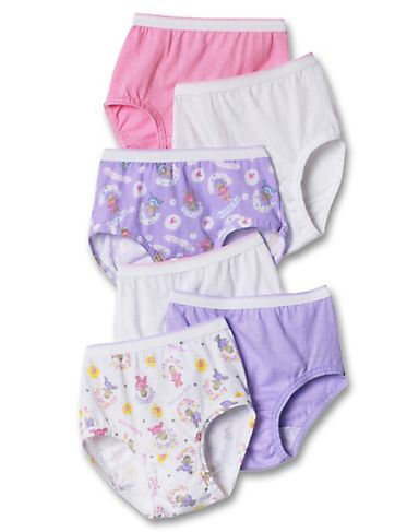 Hanes Women`s TAGLESS Toddler Girls` Pre-Shrunk Cotton Hipsters 6-Pack