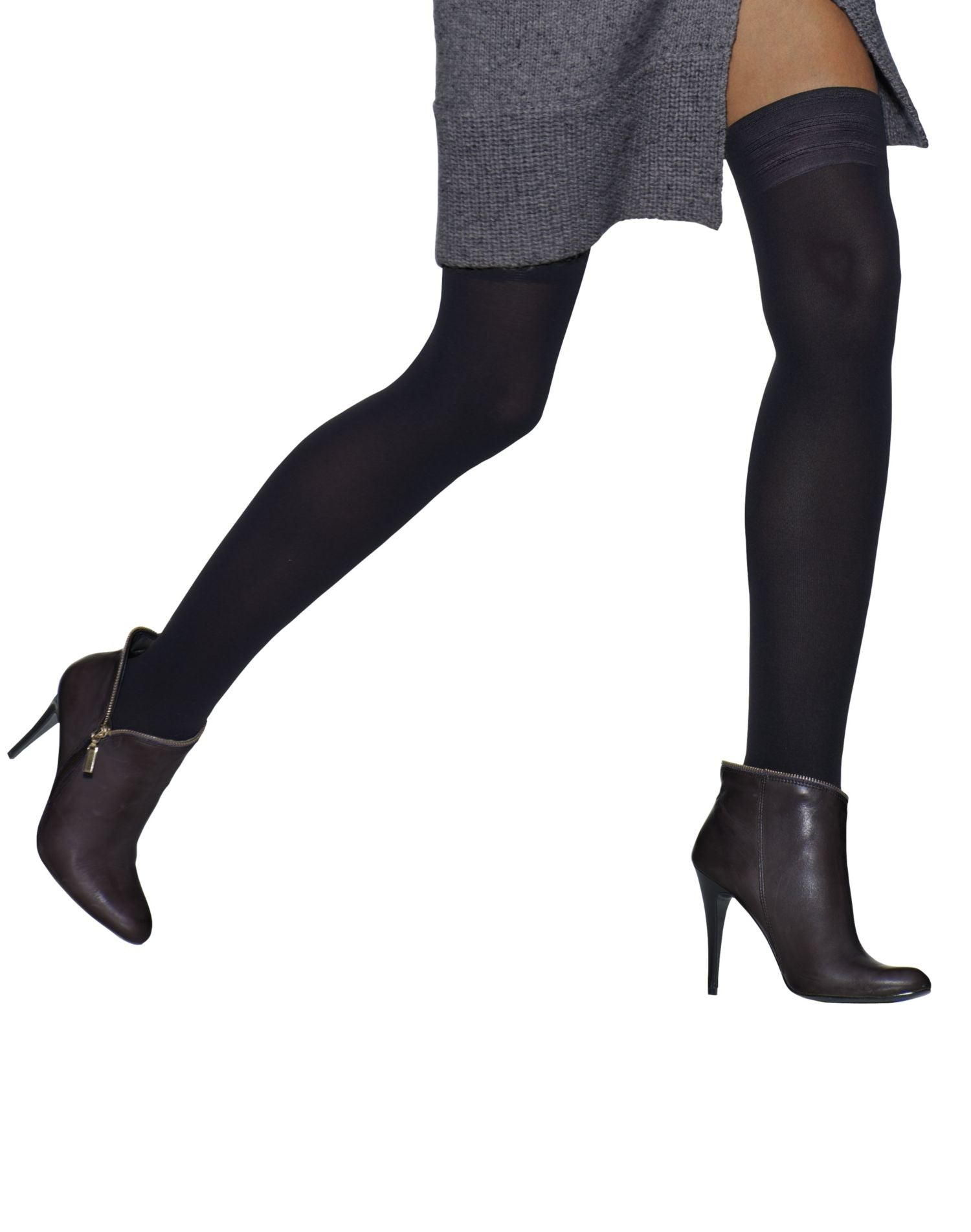 542f0bdc161 0B317 - Hanes Silk Reflections Blackout Opaque Thigh Highs 1 Pair ...