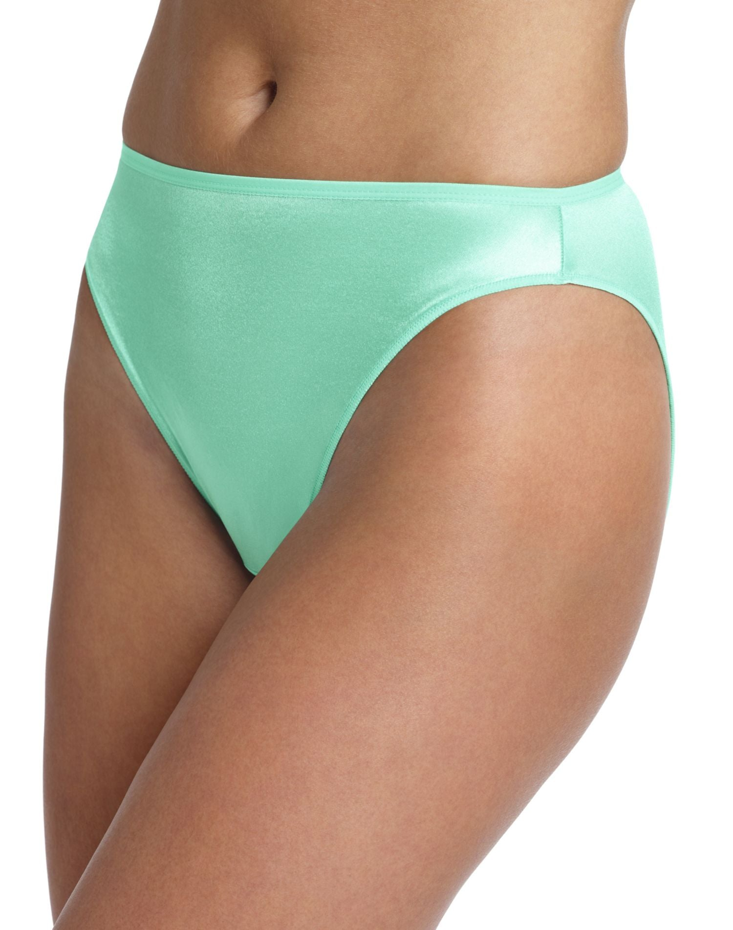58963546292c Hanes Women's Body Creations ComfortSoft Stretch Nylon Hi-Cut Panties 3 Pack