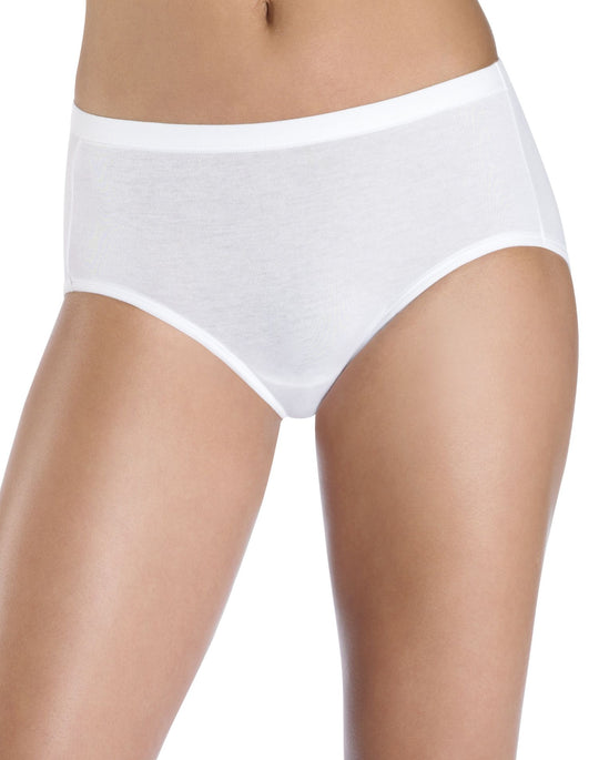 Hanes Women's ComfortSoft Stretch Cotton Low Rise Brief 3-Pack