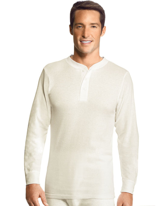 Hanes Men's Thermal Henley