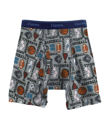 Hanes Classics Boys' Print Boxer Briefs with Comfort Flex Waistband 2 Pack