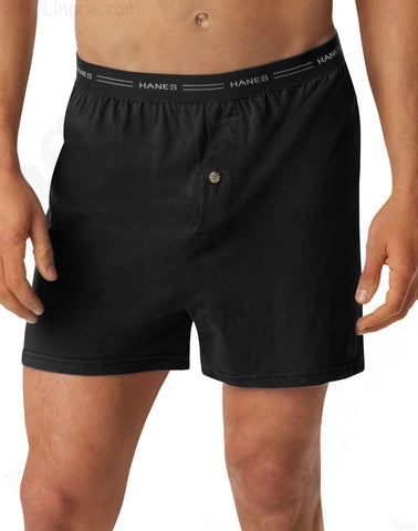 Hanes Men's Knit Boxer With Comfort Flex Waistband 2 Pack