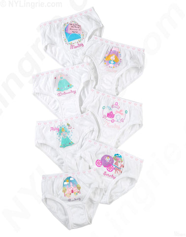 Hanes Tagless Toddler Girls Days of the Week Pre-Shrunk Cotton Briefs 7-Pack
