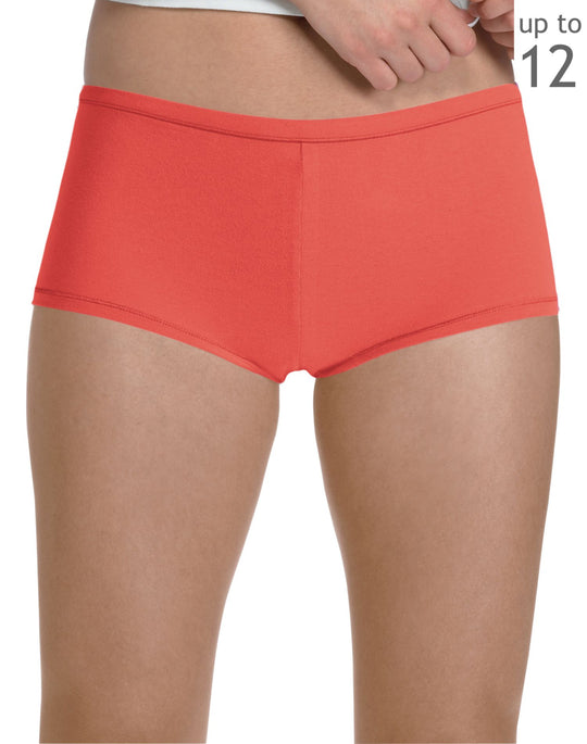 Hanes Women's Plus Boy Short Panties with ComfortSoft® Waistband 3 Pack