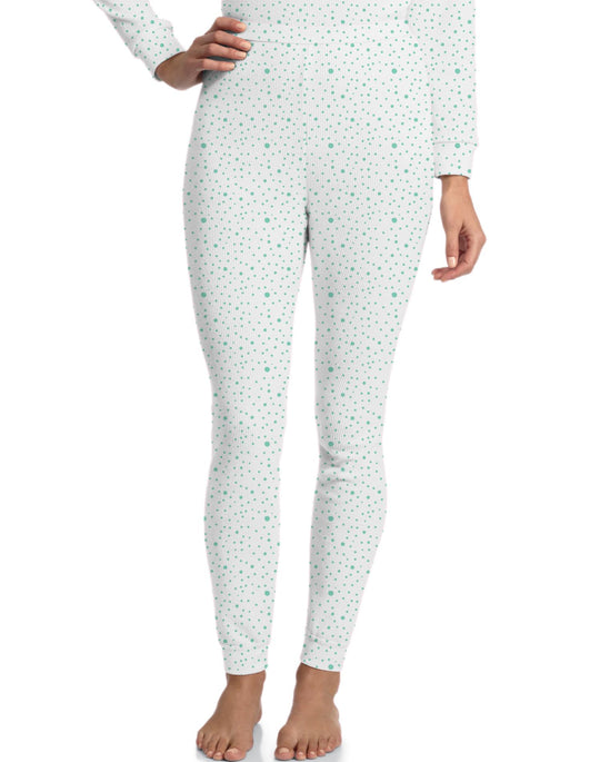Hanes Women's Blue Dot Print Thermal Pants
