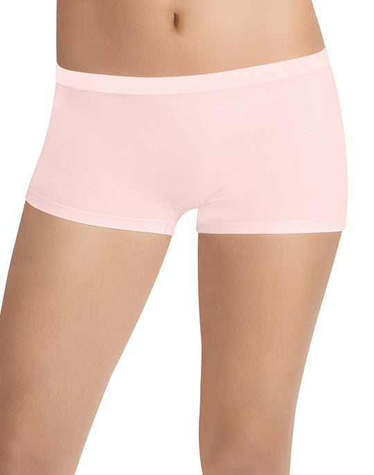 Hanes Women's Cotton Stretch Boy Short Panties 2-Pack