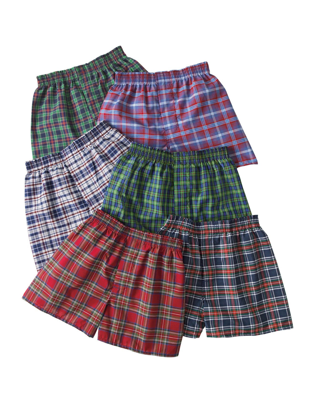 Hanes Boys Red Label Tartan Boxer, 5 Pack