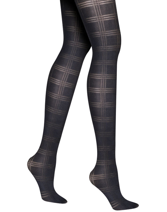 Hanes Women`s Silk Reflections Plaid Burnout, Control Top Tights