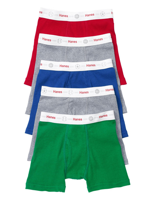 Hanes Boy`s Toddler Boxer Briefs with Comfort Flex Waistband 5 Pack