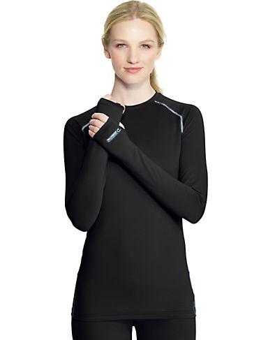 Duofold by Champion Women's Base Layer Crew with Champion Vapor Technology