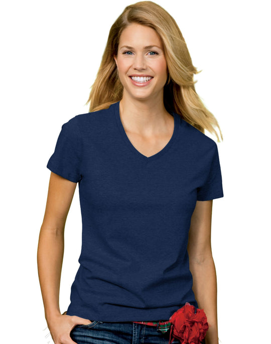 Hanes Relaxed Fit Women's ComfortSoft V-neck T-Shirt # 5780