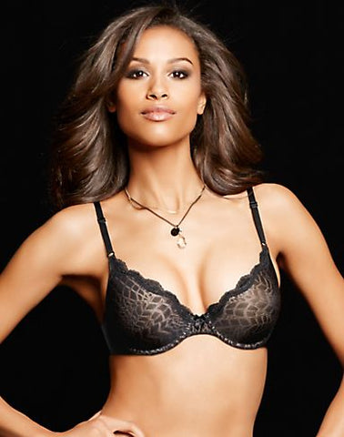 Maidenform Women`s One Fab Fit Embellished Scallop Neckline Demi Bra
