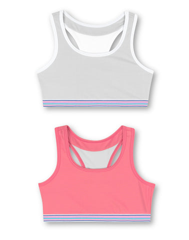 Hanes Girls ComfortFlex Fit Pullover Bra with Wide Racerback Straps 2-Pack