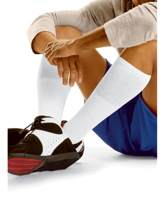 Hanes Men`s Over the Calf Tube Socks 12-Pack