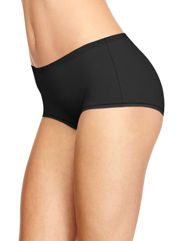 Hanes Womens Cotton Stretch 3-Pack No Show Boyshorts
