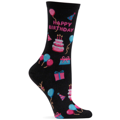Hot Sox Womens Happy Birthday Sock