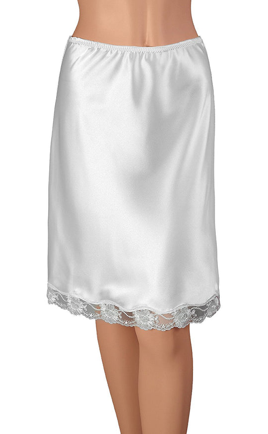 Gemsli Womens Half Slip with Exclusive Lace, Cling Free
