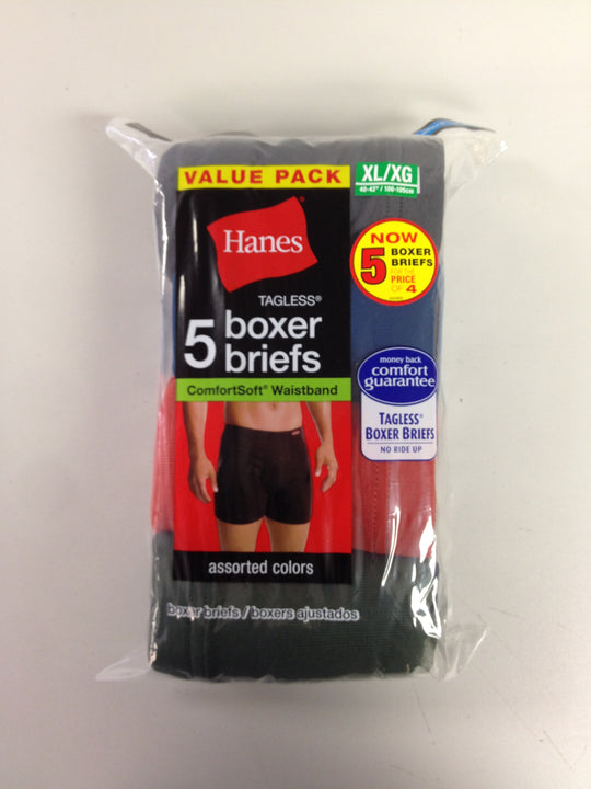 Hanes Men's TAGLESS Boxer Briefs with ComfortSoft Waistband 5-Pack