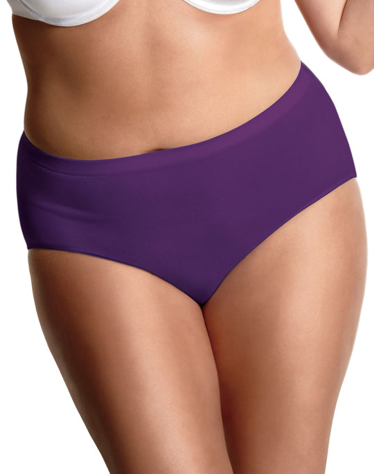 Just My Size Womens Seamless Comfort Brief 3 Pair