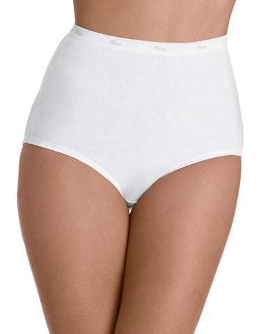 Hanes Women's No Ride Up Cotton Brief 6-Pack