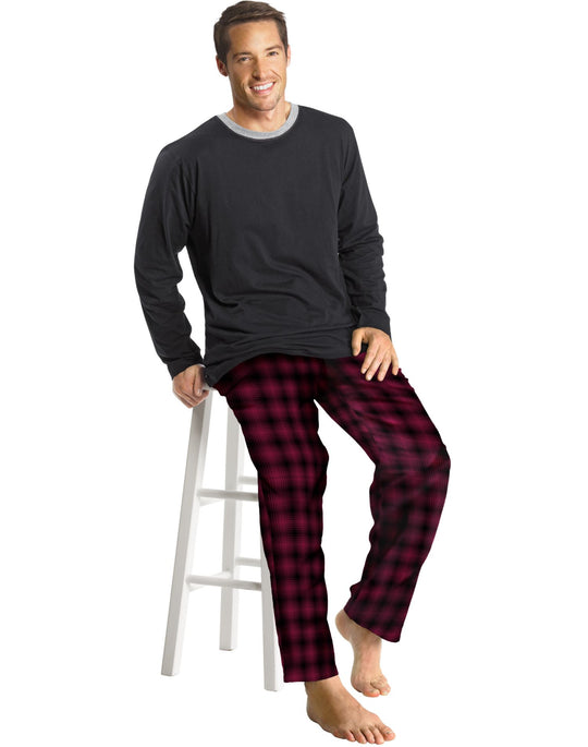 Hanes Men's Flannel Sleep Set
