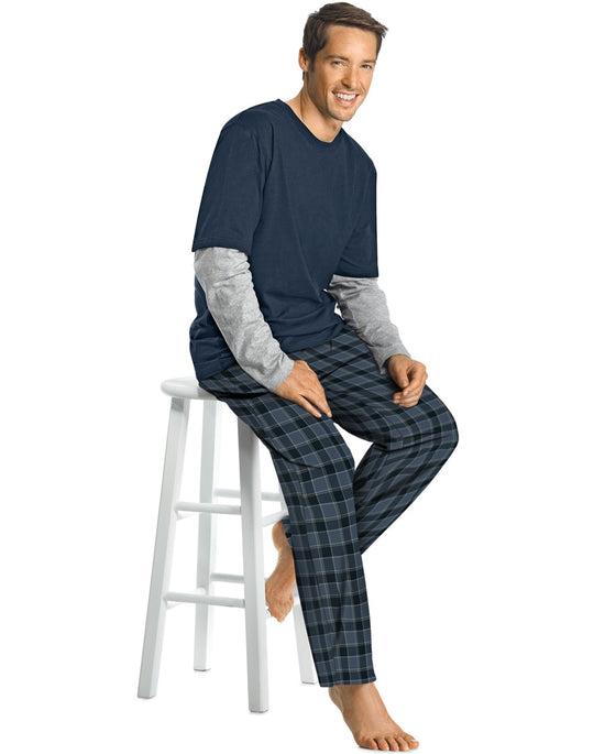 Hanes Men's Microfleece Sleep Set