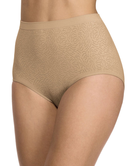 Bali Comfort Revolution Microfiber Damask Brief