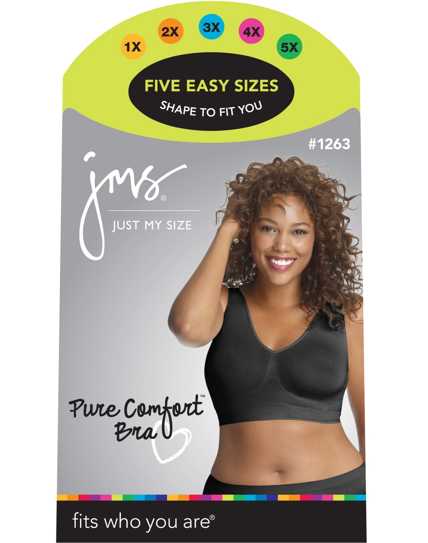 1c0b0a254d70 1263 - Just My Size Women's Pure Comfort Seamless Wirefree Bra – NY ...