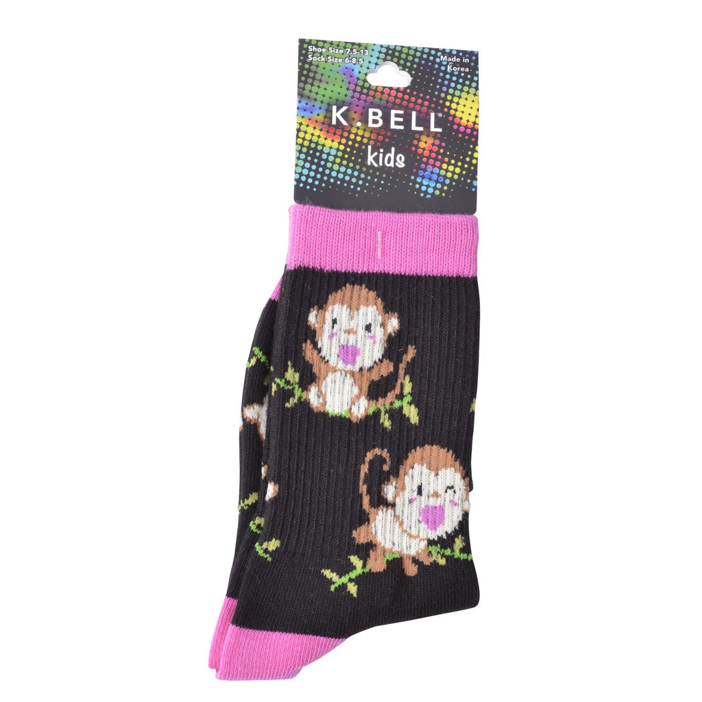 K. Bell Girl`s Crew Socks