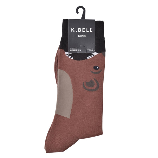 K. Bell Men`s Cotton Blend Crew Socks