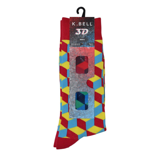 K. Bell Men`s Crew Socks - Extended Sizes Available