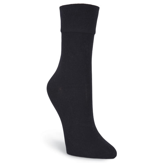 K. Bell Womens Relaxed Top Crew Socks - Extended Size