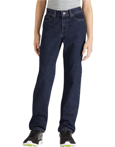 Dickies Boys FlexWaist Slim Fit Straight Leg 6-Pocket Denim Jeans, Sizes 8-20