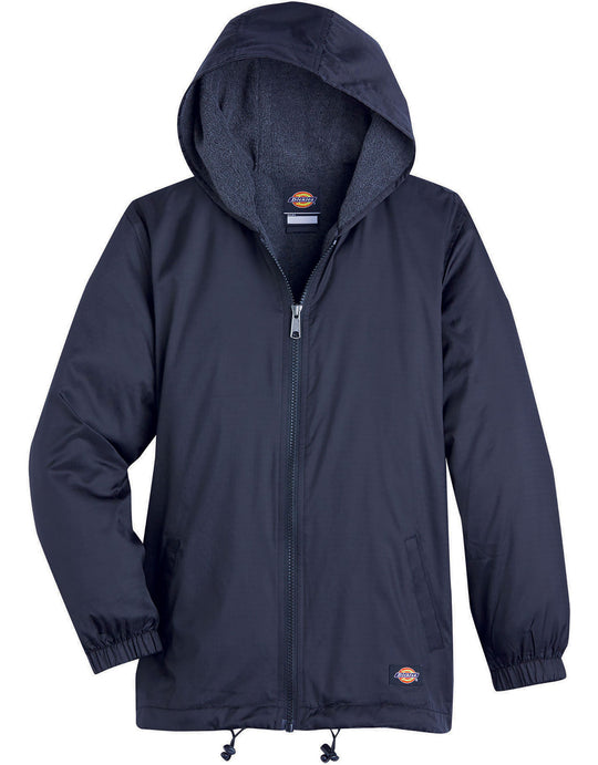 Dickies Kids Fleece Lined Hooded Nylon Jacket
