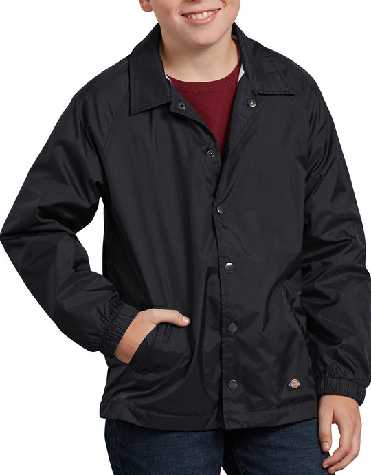 Dickies Kids Snap Front Nylon Jacket