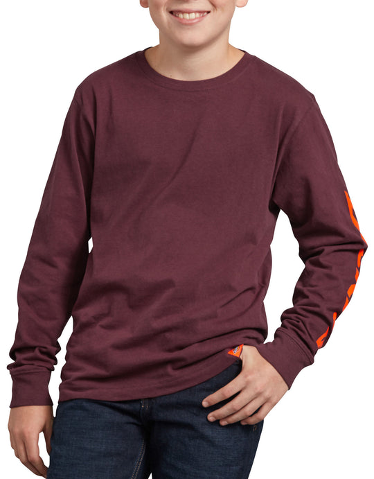 Dickies Kids Long Sleeve Branded Graphic Tee