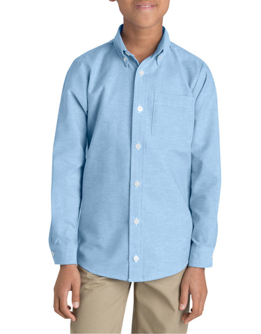 Dickies Boys Long Sleeve Oxford Shirt, Sizes 6-20