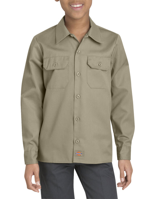 Dickies Boys Twill Long Sleeve Shirt, Sizes 8-20