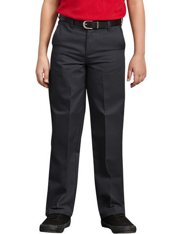 Dickies Boys Classic Fit Straight Leg Flat Front Pants, 8-20 Husky