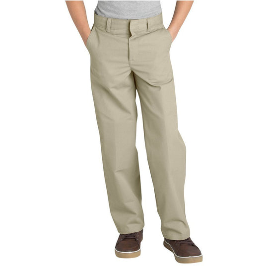 Dickies Boys Classic Fit Straight Leg Flat Front Pants, 4-7