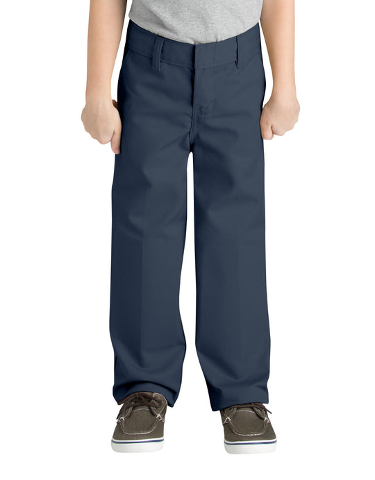 Dickies Boys FlexWaist Classic Fit Straight Leg Flat Front Pants, 4-7