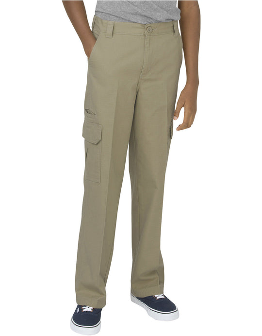Dickies Boys Relaxed Fit Straight Leg Ripstop Cargo Pants, 8-20