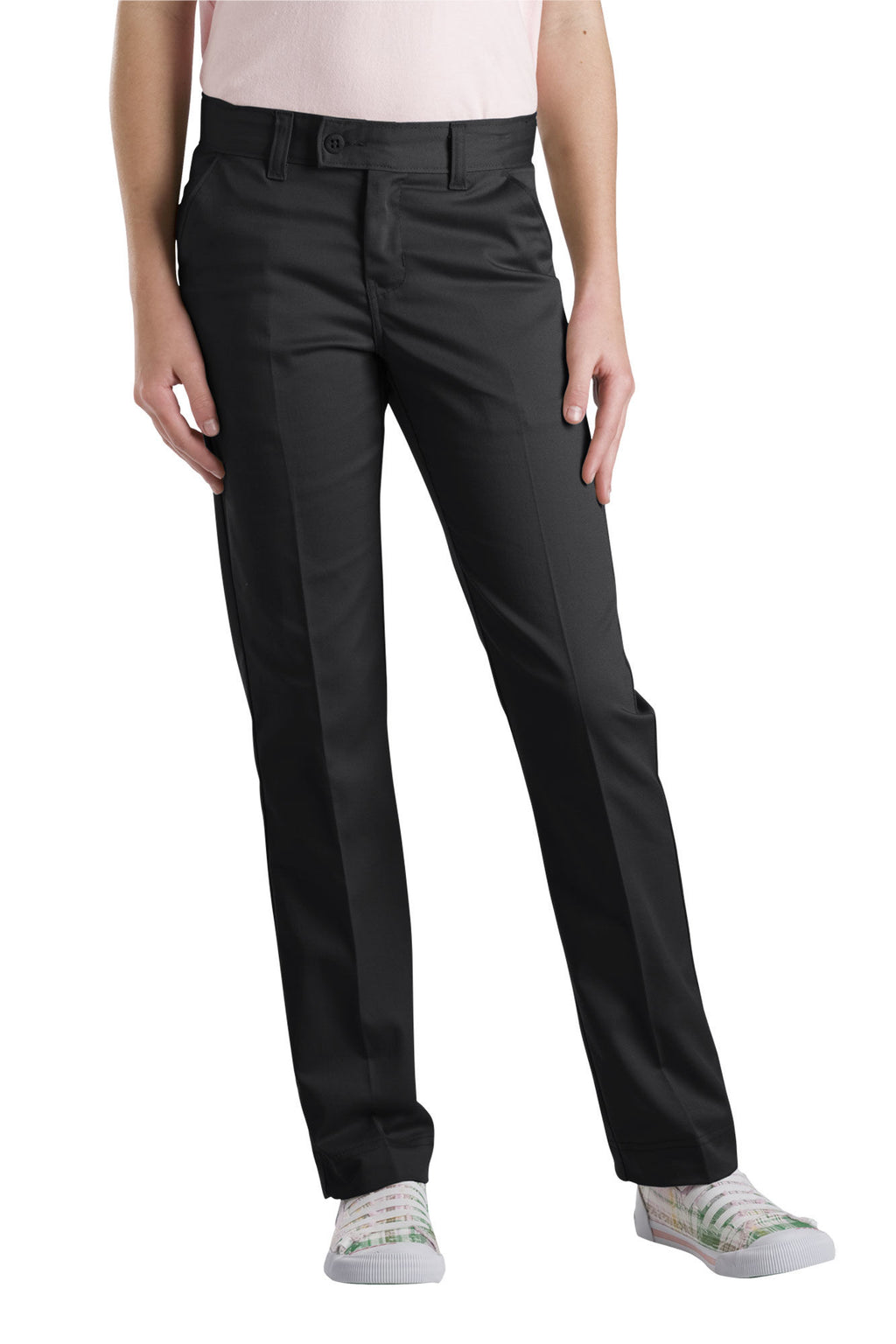 Dickies Girls Slim Fit Straight Leg Stretch Twill Pants, 7-20