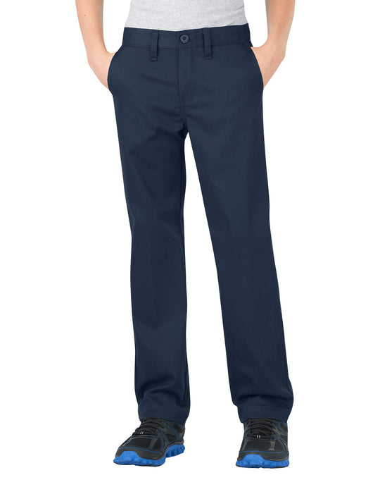 Dickies Boys FlexWaist Slim Fit Straight Leg Ultimate Khaki Pants, 8-20