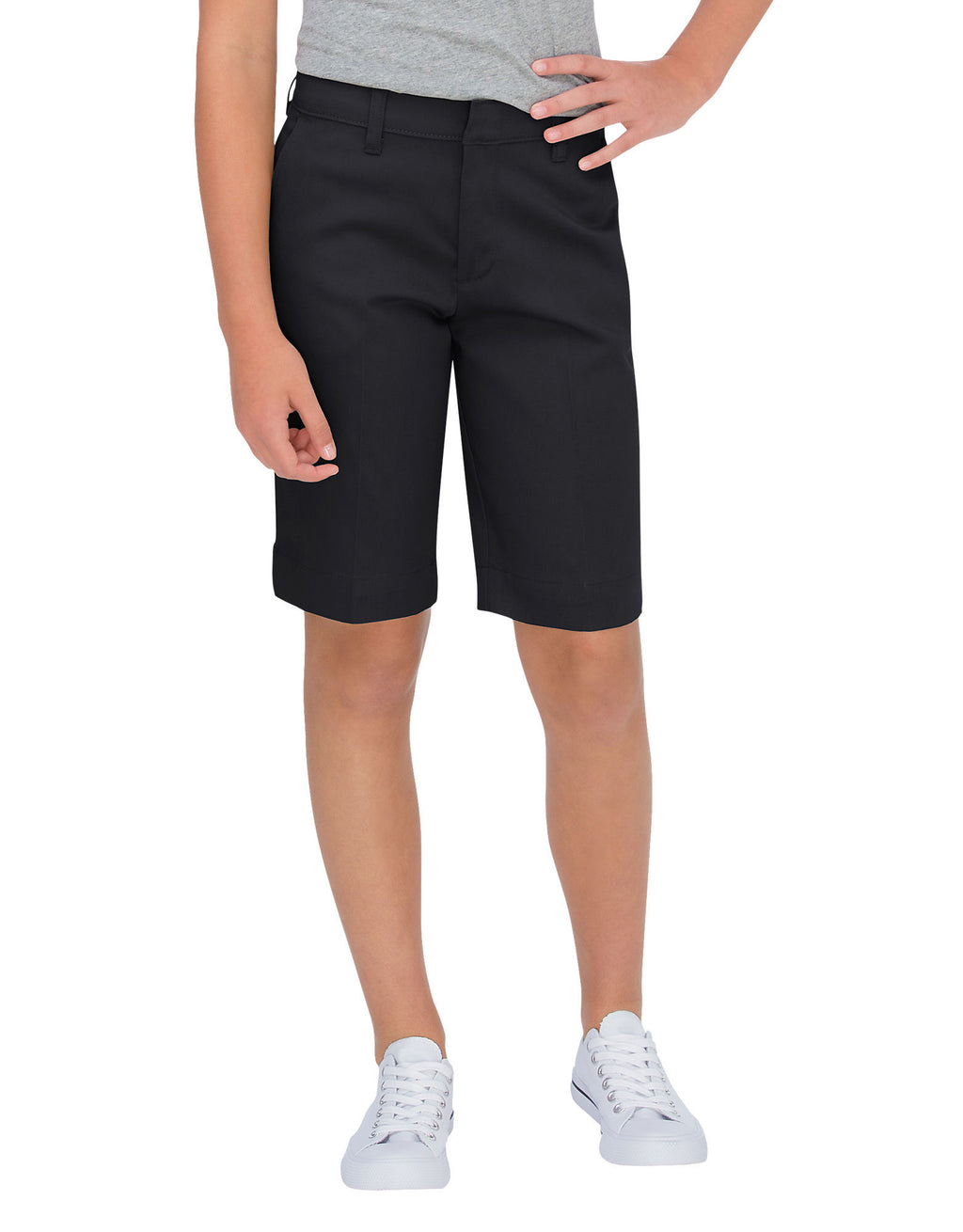 Dickies Girls Classic Fit Bermuda Stretch Twill Shorts (Plus), Sizes 7-20