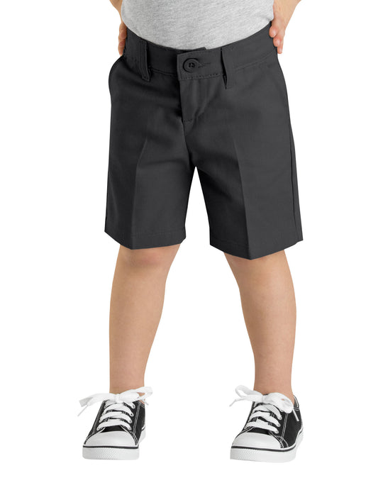 Dickies Girls FlexWaist Slim Fit Flat Front Shorts, 4-6x