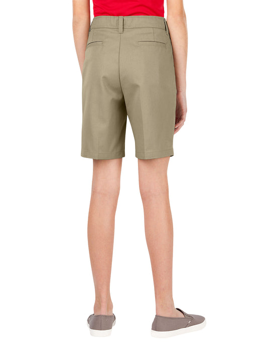 Dickies Girls FlexWaist Slim Fit Flat Front Shorts, 7-20