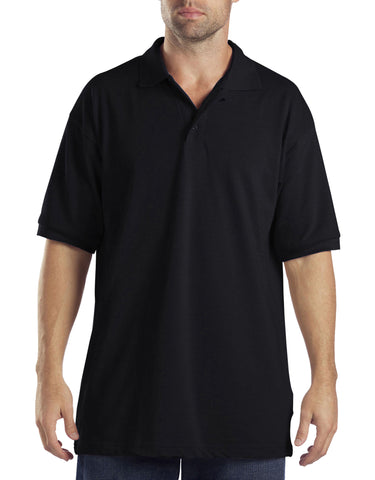 Dickies Mens Short-Sleeve Pique Polo Shirt