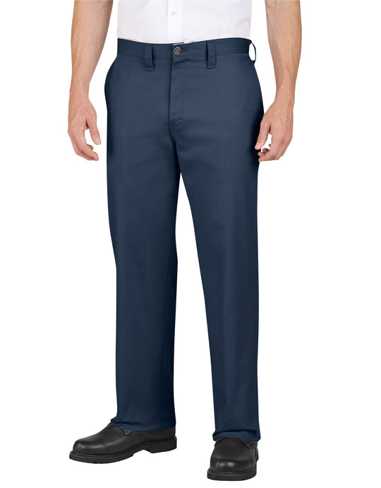 Dickies Mens Industrial Cotton Flat Front Pants